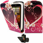 Flip Pu Leather Flip Case Wallet Cover For The HTC Wildfire S