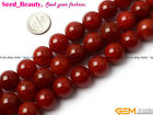 Round Pretty Smooth Red Crackle Agate Gemstone Jewelry Making Beads Strand 15''