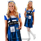 CL279 Dr. Who Adult Tardis Womens Fancy Dress Up Halloween Costume Outfit
