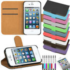 Flip Pu Leather Flip Wallet Case Cover For The Apple iPhone 4 4s