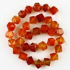K59565-1 10mm Faceted red agate loose beads 33pcs