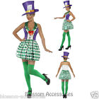 CL289 Lady Mad Hatter Tea Party Costume Alice in Wonderland Adult Fancy Dress