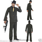 CL292 Gold Pinstripe Vintage Gangster Boss Costume Suit 20s Gangsta Zoot Razzle