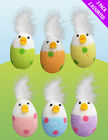 EASTER FUNKY CHICK EGGS & FEATHERS HUNT GAMES CAKE BONNET POLYSTYRENE DECORATION