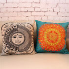 "Vintage Rome Style Compass Decor Pillow Case Cushion Cover Square 18"" Linen"