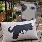 Cartoon Animal Cat & Dog Decor Pillow Case Cushion Cover Oblong 50*30cm Linen