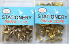 19mm Split Pins Paper Fastener Crafts Office Home Gold Or Silver Pin UK Assorted