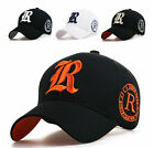 Mens Casual hat baseaball caps womens ball cap with R letter