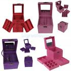 Vintage Cube Ring Necklace Bracelet Jewellery Display Storage Box Case Organiser