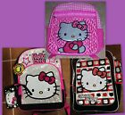 Hello Kitty Backpacks - Many Styles - Some w/ Lunchbox New With Tags MSRP $30-40