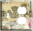 PARIS FRANCE CITY OF LOVE VINTAGE POST CARDS LIGHT SWITCH OUTLET COVER PLATES