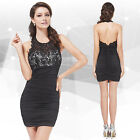 Ever Pretty Women's Sexy Mini Lacy Backless Little Black Party Dresses 05078