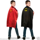CK342 Batman to Superman Reversible Cape Child Boys Superhero Hero Kids Costume