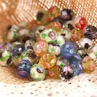 Wholesale Lots Lampwork Glass W/ Flower Floral Plants Loose Spacer Beads Finding