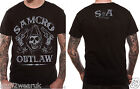 Official Sons Of Anarchy Outlaw T Shirt Black Samcro  S M L XL XXL