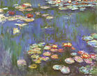Water Lilies Claude Monet Prints on Canvas Giclee Painting Reproduction Wall Art