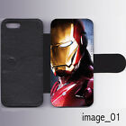 New Iron man Leather Wallet/Flip Phone Case Cover for iPhone Samsung Card slots