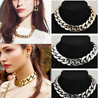 CHIC Lady Vintage Jewelry Pendant Chain Crystal Choker Chunky Statement Necklace