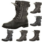 WOMENS LADIES MILITARY COMBAT ARMY LACE BOOTS SIZE 3 36