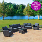 New Rattan Weave Garden Furniture Patio Conservatory 3, 4, 5, 7 Seater Sofa Sets
