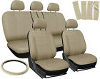 17PC Mesh Car Seat Headrest Cover Set Bucket Chair Bench Full SET Colors
