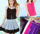 Nice Womens Summer Slim Chiffon Double Sleeveless Tops Tanks T-Shirt Blouse