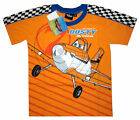 DISNEY PLANES DUSTY Boys orange cotton summer t-shirt 4,6,8 Age 3-6 y Free Ship