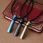 Hot sale Cool Fashion Unisex's Stainless Steel Bar Cross Pendant Necklace Chain
