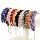 Gemstone Multilayer Crystal Glass Plastic Chip Wrap Beaded Stretchy Bracelet
