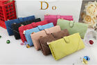 Hot Sale Women Vintage Zipper Wallet Button Clutch Purse Lady Long Handbag Bag