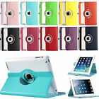 360 Rotating Magnetic PU Leather Case Smart Cover Stand For Apple New iPad 2 3 4