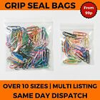 Resealable Gripseal Grip Seal Bags Poly Polythene Plastic Plain Clear
