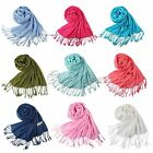 9 Colors Top Quality Ladies Pashmina Shawl Hijab Scarf Huge Range Wrap New Stole
