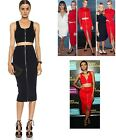 T By Alexander Wang Red Rib Knit 2 Way Zip Fitted Long Skirt $325  NEW INK/COLA