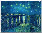 Stretched Art Print Starry Night over the Rhone River by Vincent van Gogh Repro
