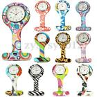 Stainless Round Dial Silicone Nurses Brooch Tunic Pin Fob Tunic Pocket Watch Hot