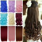Newly Stylish SALON FINEST HAIR EXTENTIONS 5 CLIPS IN Curly Wavy Straight Hair 4