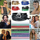 2015 New Celebrity Men Women Genuine Leather Bracelet Positive Letter Stamped