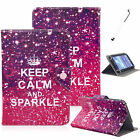 Universal Keep Calm Sparkle PU Leather Case Cover For 7 8'' Android Tablet PC