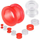 2PAIRS ear tunnel acrylic screw plug gauge stretcher earring 9HPD-SELECT 2-30MM