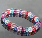 New Fashion Crystal Faceted Loose beads Bracelet Stretch Bangle Lady's Jewelry