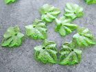 15x16mm 100/200pcs CLEAR FOREST GREEN ACRYLIC LUCITE PLASTIC LEAFS BEADS CM05819