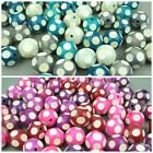 Round Polka-Dot Wooden Beads - 25mm Spotty Ball Jewellery Making