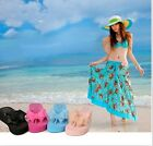 New Women's Beach Hawaii Mid Wedge Heel Thong Platform Flip-flops Sandal Shoes Z