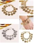 Silver Coin Bracelet Tassel Gypsy Festival Turkish Tribal Ethnic Anklets Jewelry