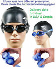 Customized Swimming Goggles Nearsighted swimming goggles Anti-fog UV