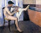 Poster / Leinwandbild Man drying his leg - Gustave Caillebotte