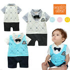 1pc Baby Boy Kids Infant Toddlers Bowknot Romper Bodysuit Clothing  0-12M