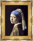 Girl with a Pearl Earring Johannes Vermeer Painting Repro Framed Wall Art Print