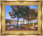 Bridge at Argenteuil Pierre Auguste Renoir Painting Reproduction Framed Fine Art